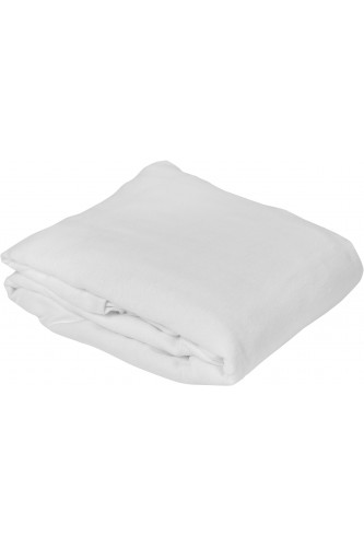 Protège matelas molleton extensible 80% coton 20% polyester, forme drap housse