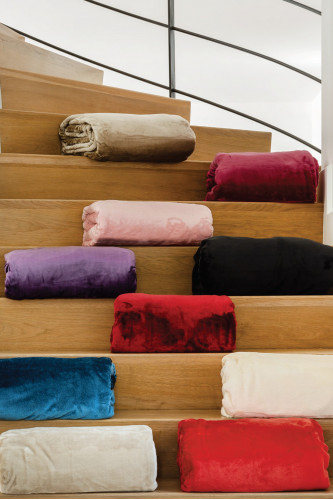 Ref VELVET - Couverture microvelours 100% polyester