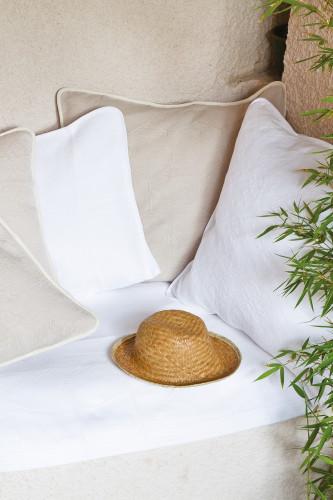 Ref BIGORRE - housse d'oreiller carree en pique de coton