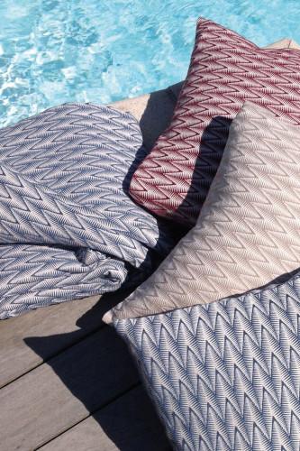 Ref BIARRITZ - coussin dehoussable 100% coton peigne? stonewashed