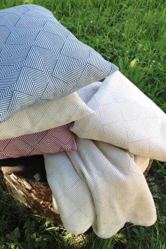 Ref DEAUVILLE - Coussin dehoussable 100% coton peigne? stonewashed