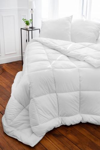 Ref CASTOR 400 -   couette sante coton, enveloppe percale 100% coton traitee ULTRAFRESH